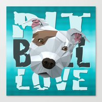 pit bull Canvas Prints featuring Pit Bull by Benjamin Ring