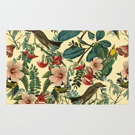 FLORAL AND BIRDS VII Rug