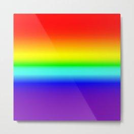 Vivid Rainbow Gradient Metal Print