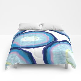 Blue agate pattern Comforters