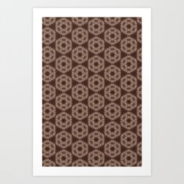 Lace in Coffee Brown Art Print
