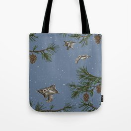 FLYING SQUIRRELS IN THE PINES (twilight) Tote Bag