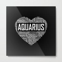 Aquarius Zodiac Metal Print