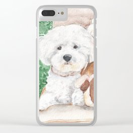 Two Bichons and A Friend Clear iPhone Case