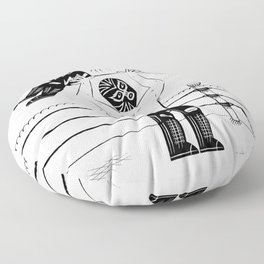 Lucha Libre Floor Pillow