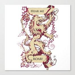 Lion - Hear me roar Canvas Print