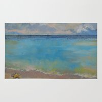 starfish Area & Throw Rugs featuring Starfish by Michael Creese