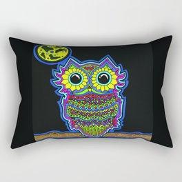 Rainbow Owl Rectangular Pillow
