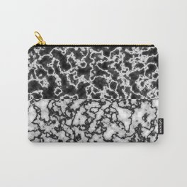 Black and white marble texture 2 Carry-All Pouch