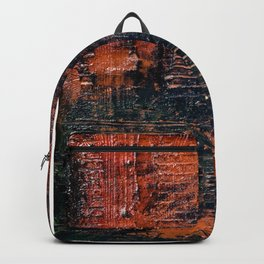 Hollow (Navy/Red Abstract) Backpack