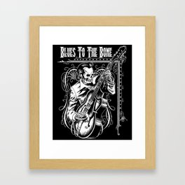 Blues to the Bone Rockabilly Framed Art Print