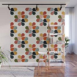 Retro geometry pattern Wall Mural