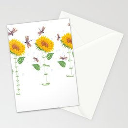 New Mexico Las Cruces City Sunflower hope love Gifts For Men Women Stationery Cards