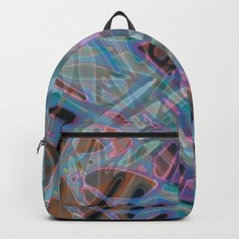 Colorful Abstract Stained Glass G302 Backpack