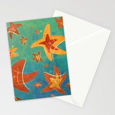 Starry Starfish Night Stationery Cards