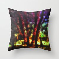 magic the gathering Throw Pillows featuring SACRED TREES - THE GATHERING by mimulux