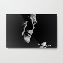 Man black white 3 Metal Print