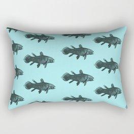 Flock of Fish Rectangular Pillow