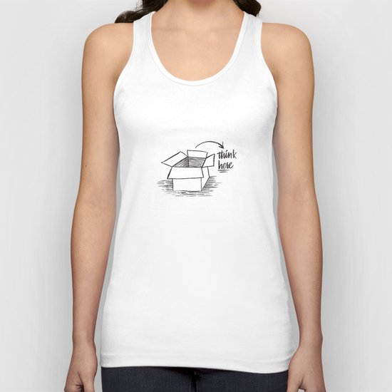 think here Unisex Tank Top