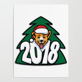 Happy New Year of Yellow Dog Poster