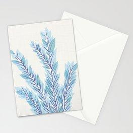 Blue Juniper Branches Botanical Stationery Cards