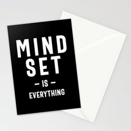 Growth Mindset Entrepreneur Teacher Fitness Motivation Stationery Cards