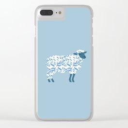 Sheep made of floral pattern Clear iPhone Case