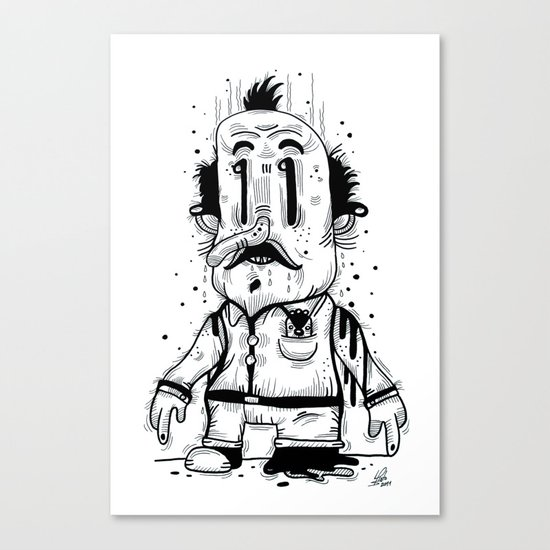 Stinky Man Canvas Print