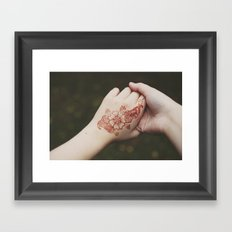 henna tattoo Framed Art Print