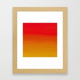 Red Apple and Golden Honey Ombre Sunset Framed Art Print