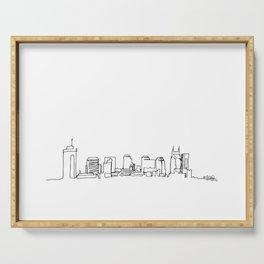 Nashville Skyline Drawing Serving Tray