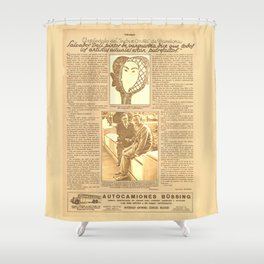 Salvador DALI. First interview. 1928 Shower Curtain