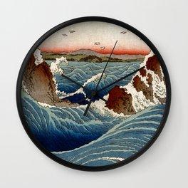 Andō Hiroshige Naruto Whirlpool, Awa Province Wall Clock