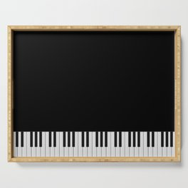 Piano Keyboard Serving Tray