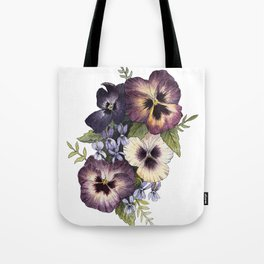 Watercolor Pansy Bouquet Tote Bag