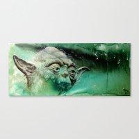 yoda Canvas Prints featuring YODA by ARTito