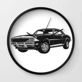 Camaro Muscle Car Wall Clock