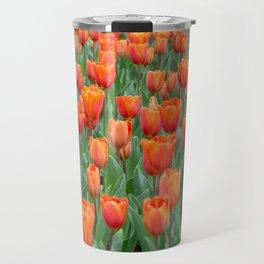 Sea of 'Amazone' Triumph Tulips Travel Mug