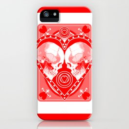 Skull Ace of Hearts iPhone Case