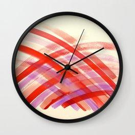 Pink Energy Haystack  Wall Clock