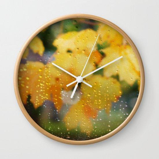 Autumns Tears Wall Clock