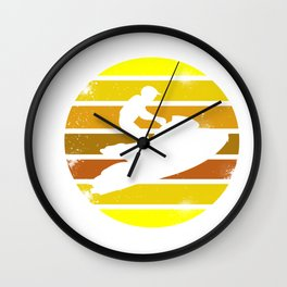 Jet Ski Retro Athletic Beach Summer Sports Wall Clock