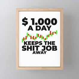 1000$ Trading Stock Markets Framed Mini Art Print