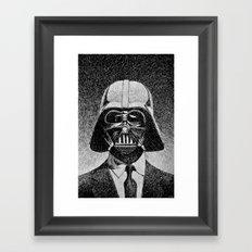 Darth Vader portrait #2 Framed Art Print