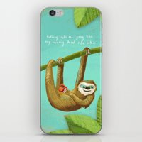 Nothing gets me going like my morning caffe latte iPhone & iPod Skin