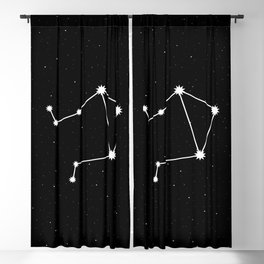 Libra Star Sign Night Sky Blackout Curtain