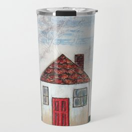 Little white house Travel Mug