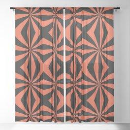 Pinwheel X Sheer Curtain