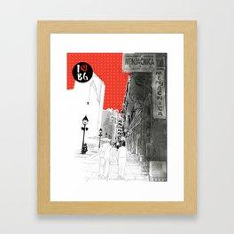 I love Belgrade Framed Art Print