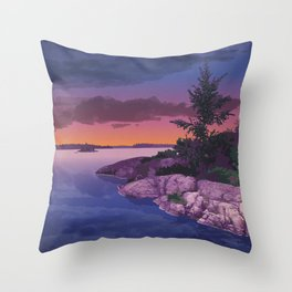 French River Provincial Park Throw Pillow
